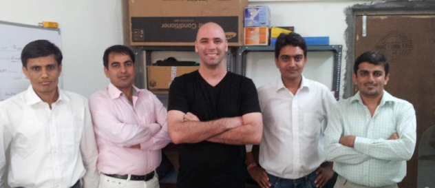 Dropmysite CEO with the Indian developer team