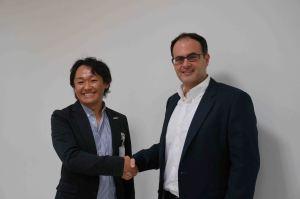 paperboy&co.inc, President, Sato Kentaro with Dropmysite, CEO, Charif El-Ansari